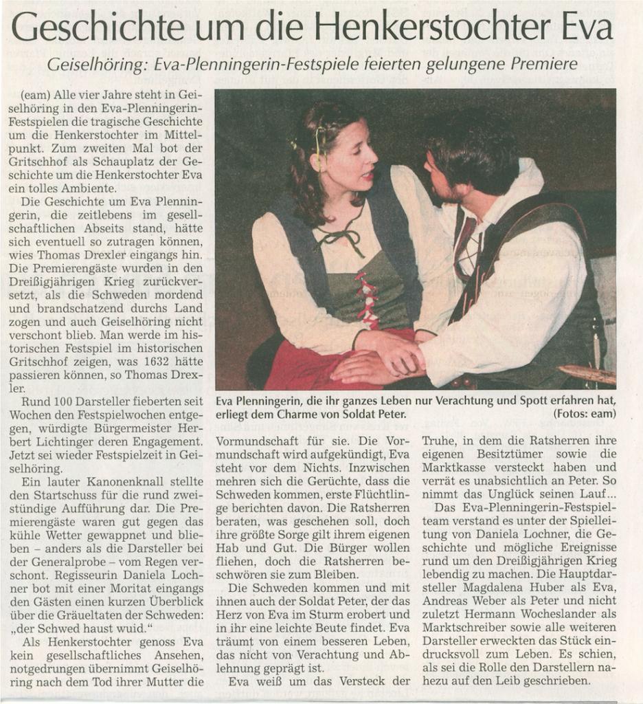 Artikel erschienen in der Allgemeinen Labet-Zeitung vom 18. Juli 2016 Mit freundlicher Genehmigung Straubinger Tagblatt